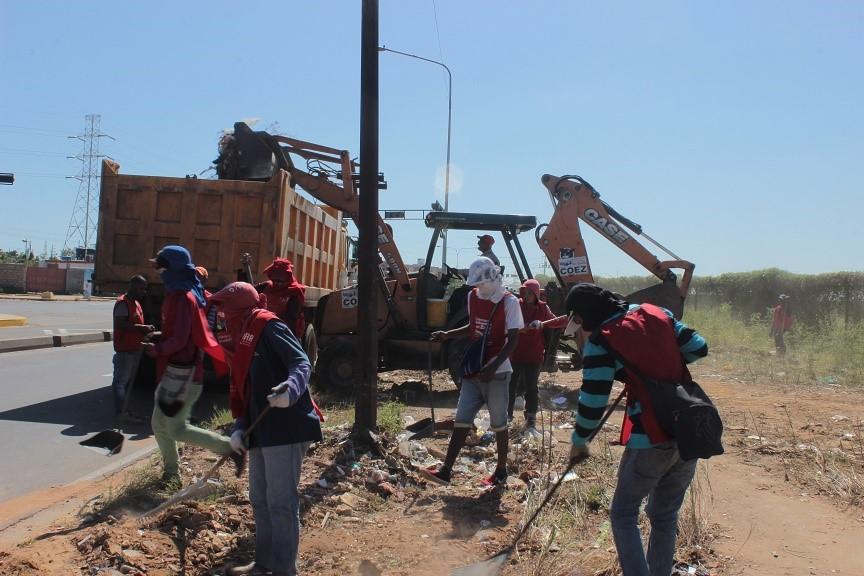 Gobernación del Zulia continúadespliegue y recoge 500 toneladas de basura en la C-3
