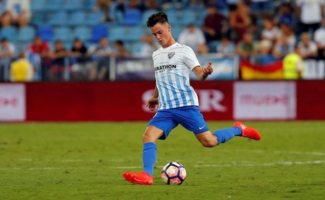 Juanpi Añor se siente orgulloso de jugar con el Málaga