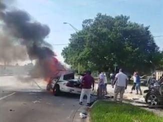 Fallece un hombre en Miami tras chocar una patrulla policial que se robó