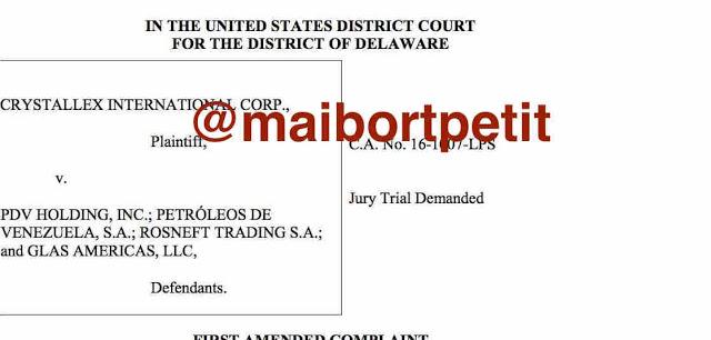 Crystallex amplía guerra legal contra Pdvsa en tribunales de EEUU
