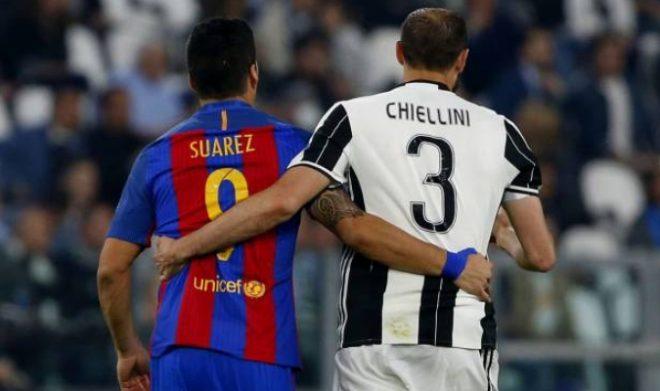 Suárez y Chiellini se volvieron a ver las caras tras el mordisco