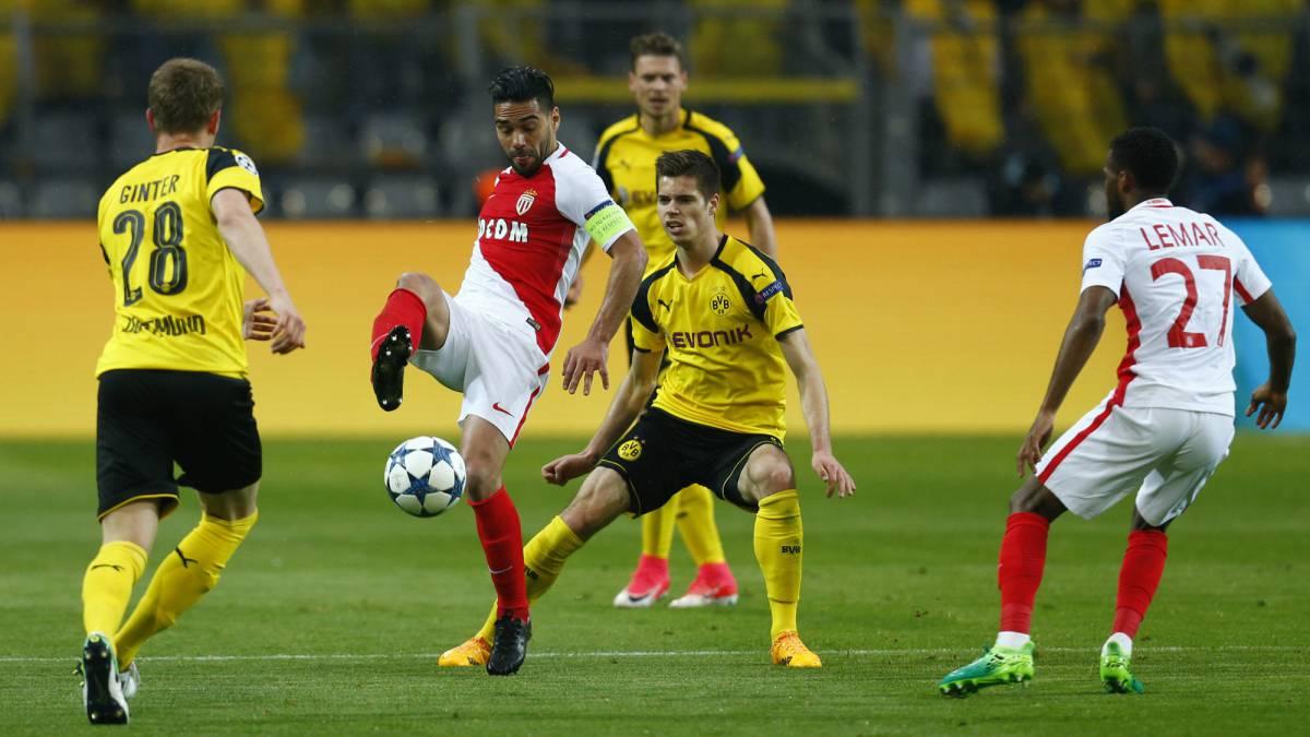 Mónaco venció al Dortmund y se catapultó a las semifinales de la Champions