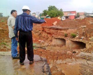 Gobernador inspecciona avances de la construcción del Distribuidor Simón Bolívar