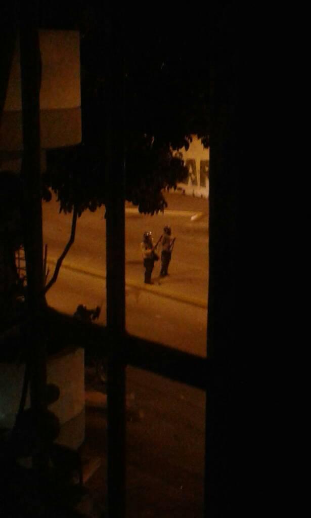 Ballena y rinocerontes… contra la protesta pacífica nocturna en la avenida Victoria (FOTOS)