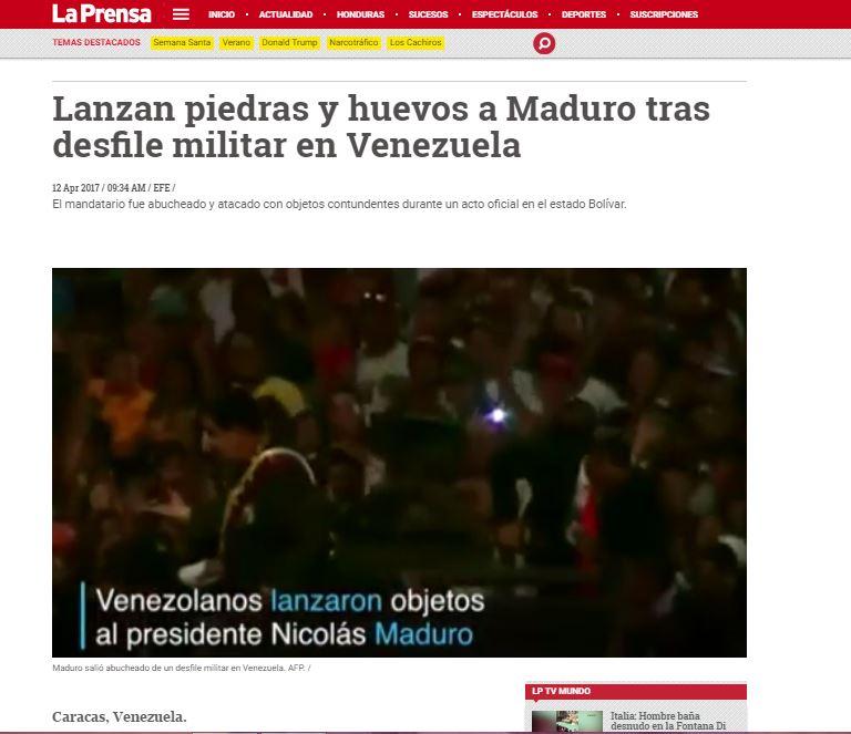 ¡BOCHORNO INTERNACIONAL! Mire cómo reseñó la prensa mundial el rechazo a Maduro en San Félix