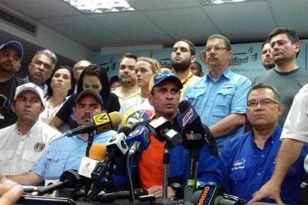 Capriles confirmó la detención de seis dirigentes de Primero Justicia