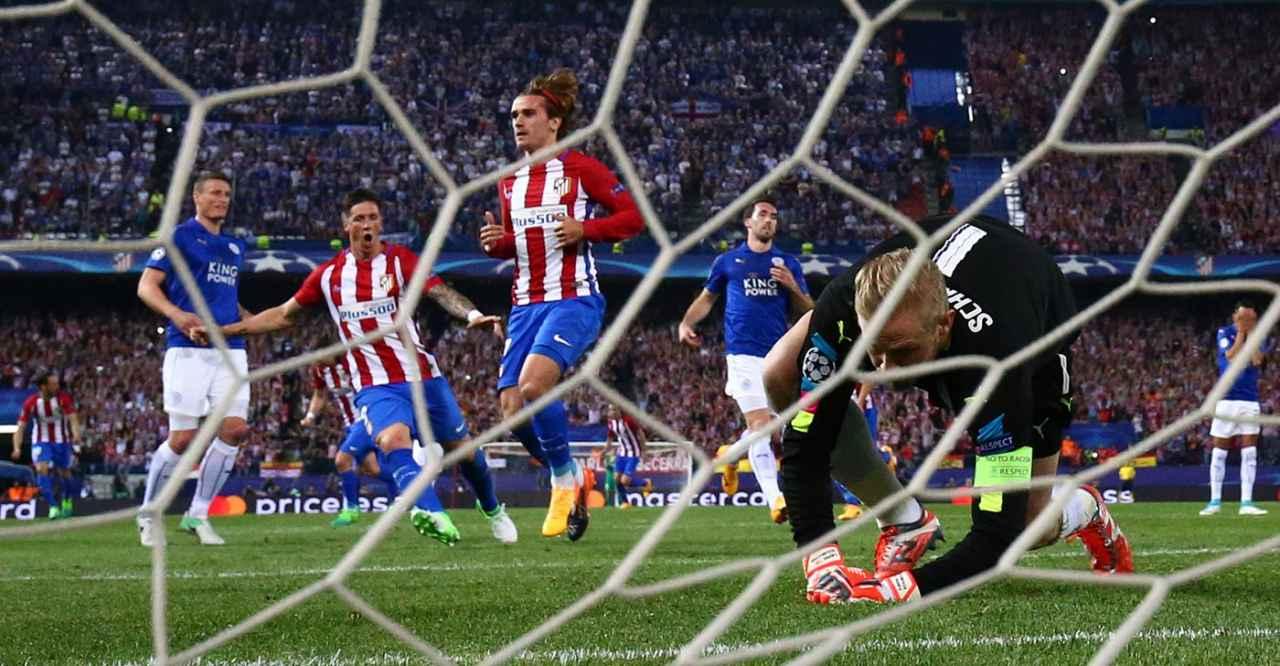 El Leicester cae en el Vicente Calderón en la ida de los cuartos de final de la Champions