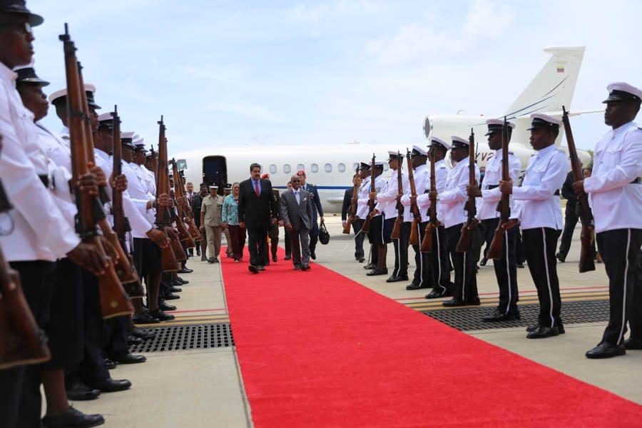 Maduro llegó a San Vicente y Las Granadinas (Video)