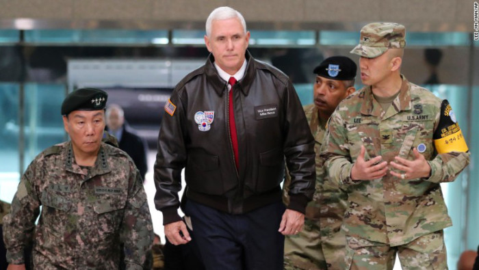 Pence a Corea del Norte: No pongan a prueba nuestra fuerzas militares