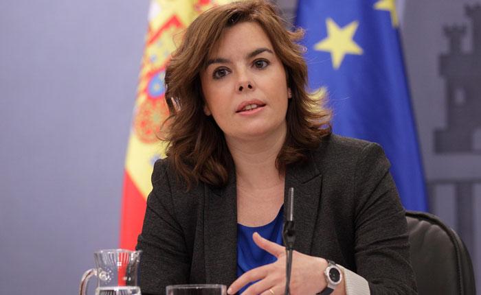 Vicepresidenta de España aboga por respeto a Estado de Derecho en Venezuela