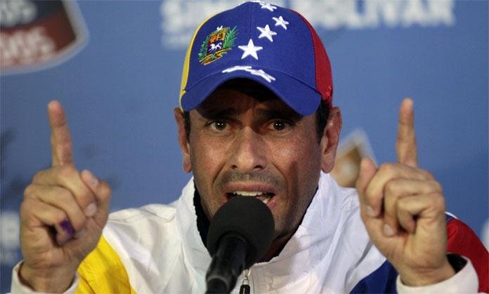 """Capriles: """"La protesta se acabará cuando sean oídas las demandas del pueblo"""""""