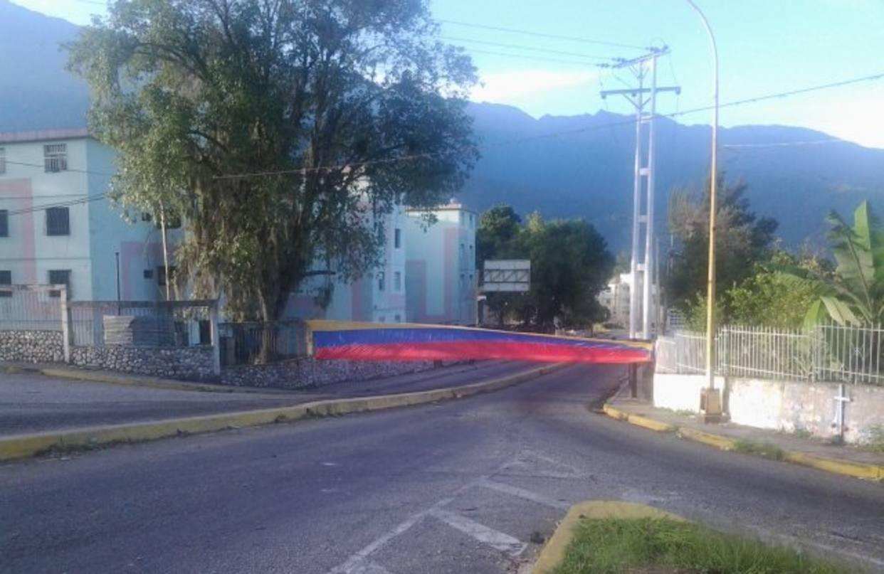 Manifestantes trancan la avenida Los Próceres de Mérida