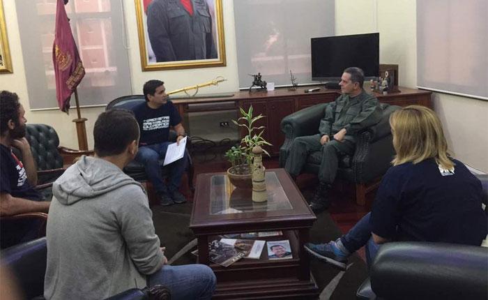 Periodistas denunciaron en la GNB trato en las manifestaciones