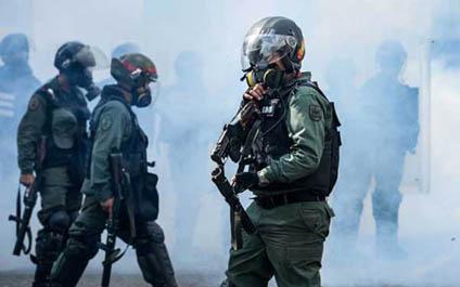 Hieren de bala a dos GNB durante protesta en Caracas