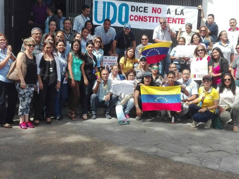 Una hora de protesta diaria realizarán trabajadores de la UDO