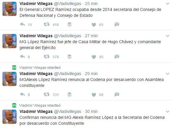 Confirman renuncia del MG Alexis Ramírez López a la secretaria del Condena por desacuerdo con Constituyente