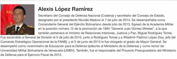 Confirman renuncia del MG Alexis Ramirez López al Codena por desacuerdo con ANC