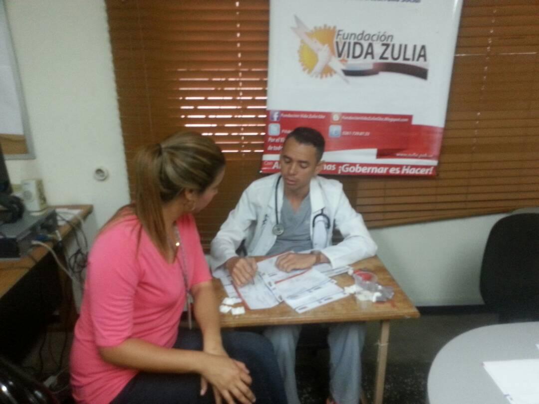 Fundación Vida Zulia brindó jornada médica al personal del Invez y Auditoria Interna del Ejecutivo Regional