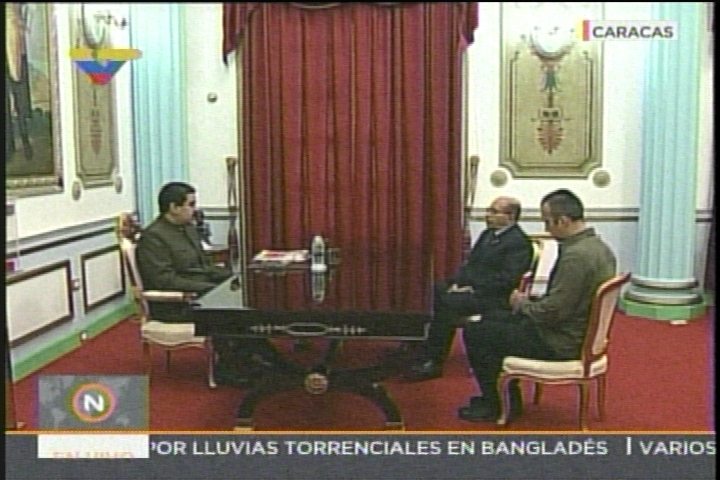 Maduro se reúne con el Contralor Manuel Galindo en Miraflores