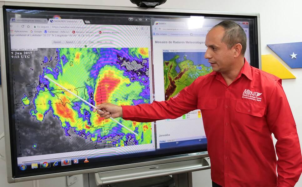 Tormenta Bret llega a las 11:00 PM a la Península de Paria