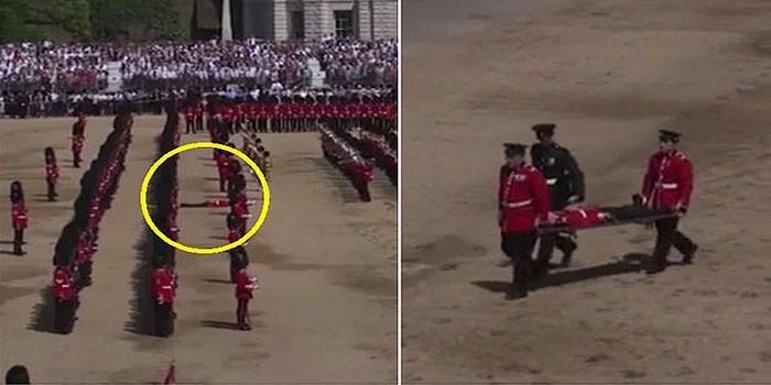 +VIDEO| Guardia se desmaya en pleno desfile por cumpleaños de la Reina Isabel II