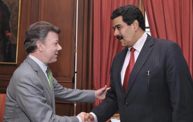 """Santos a Maduro: """"Puede insultarme a mí todo lo que quiera, pero no al pueblo colombiano"""""""