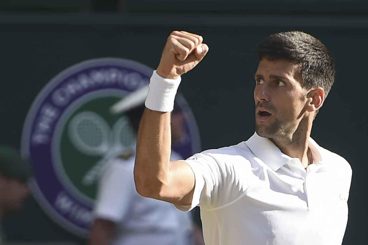 Novak Djokovic a los octavos de Wimbledon por décima vez