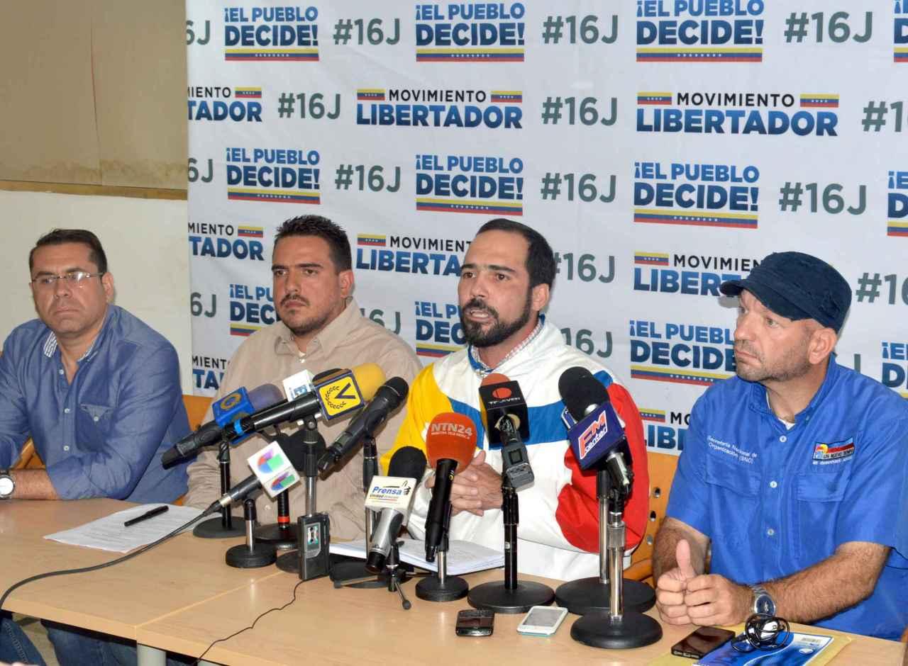 Oposición juramenta este viernes a coordinadores y voluntarios de la consulta del 16julio