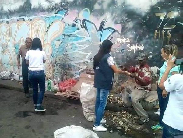 900 mirandinos en situación de calle han recibido donación de alimentos