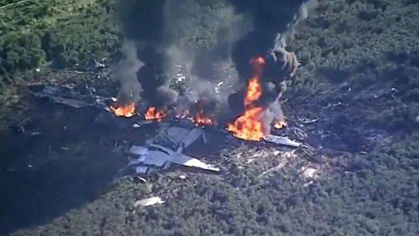 16 militares estadounidenses fallecieron tras estrellarse un avión en Mississippi