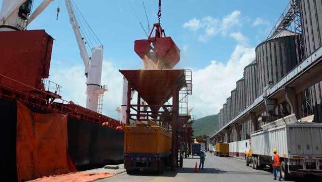 Descargan en Puerto Cabello 118.000 toneladas de producto a granel
