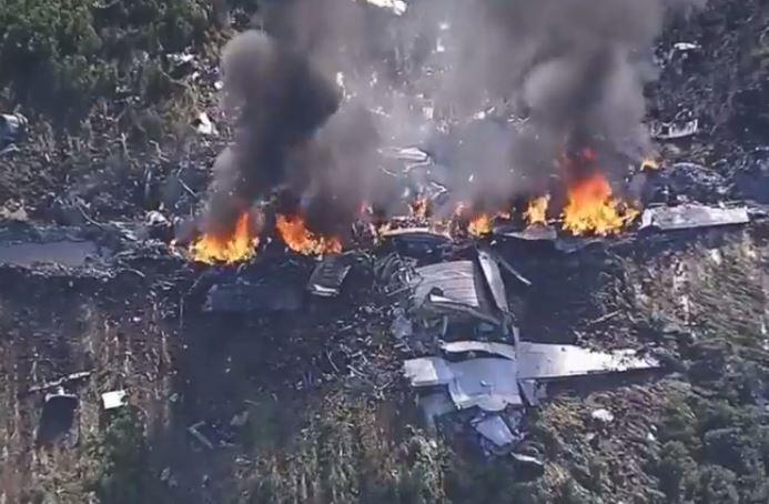 EE.UU: Mueren 16 personas al estrellarse un avión militar en Mississippi