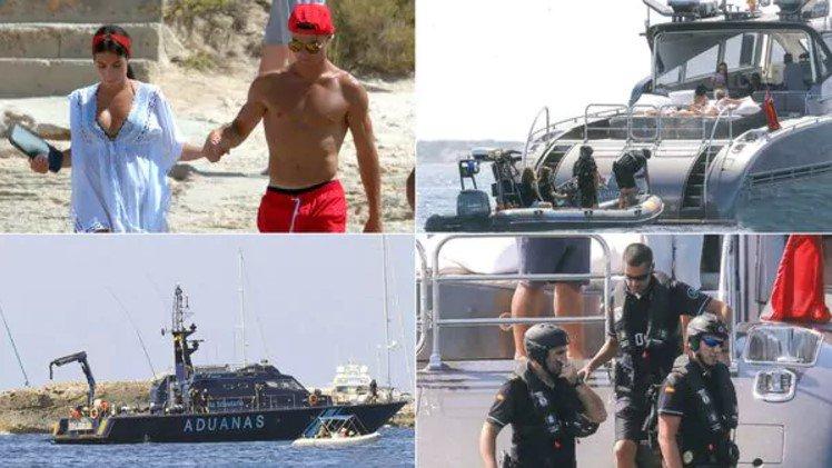 El lujoso yate de Cristiano Ronaldo fue sorpresivamente inspeccionado por agentes de Aduanas