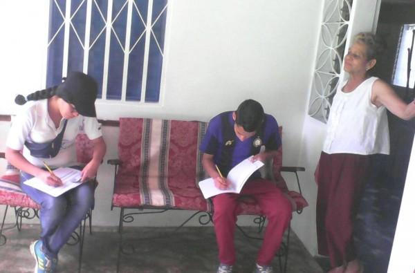 En comunidad de Trujillo verificaron el carnet de la Patria