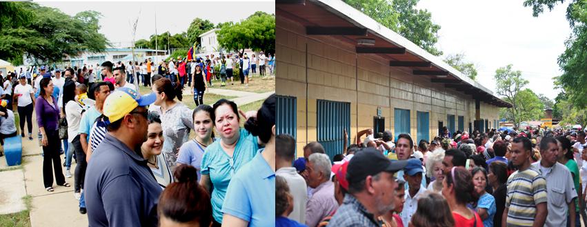 En fotos: Así participaron los zulianos en la consulta popular y en el simulacro de la ANC