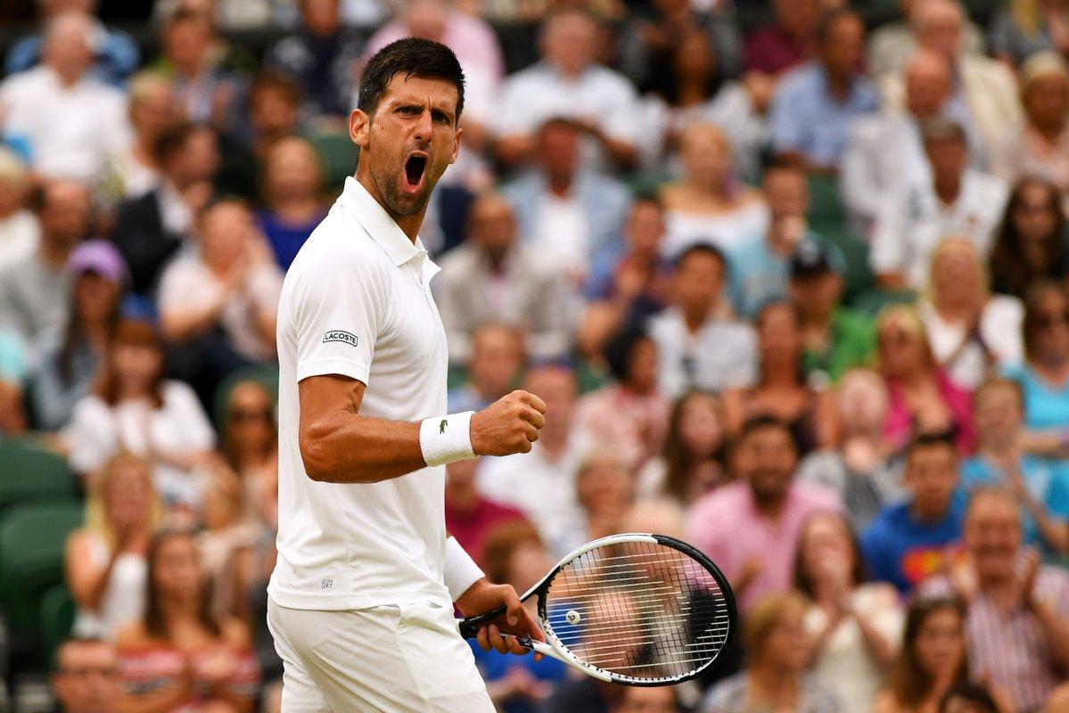 Novak Djokovic arrolló a Adrian Mannarino para meterse en cuartos de final de Wimbledon