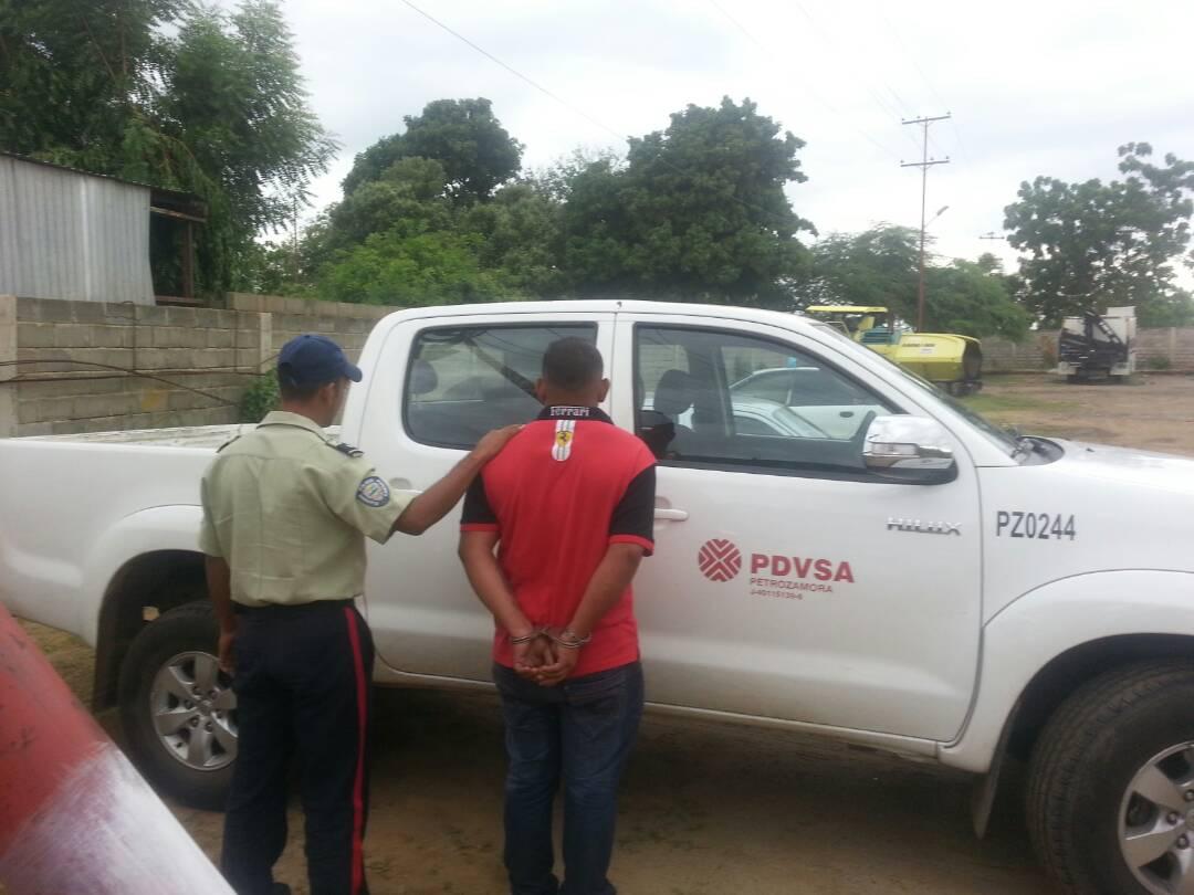 Policabimas capturó a sujeto con camioneta robada de Pdvsa