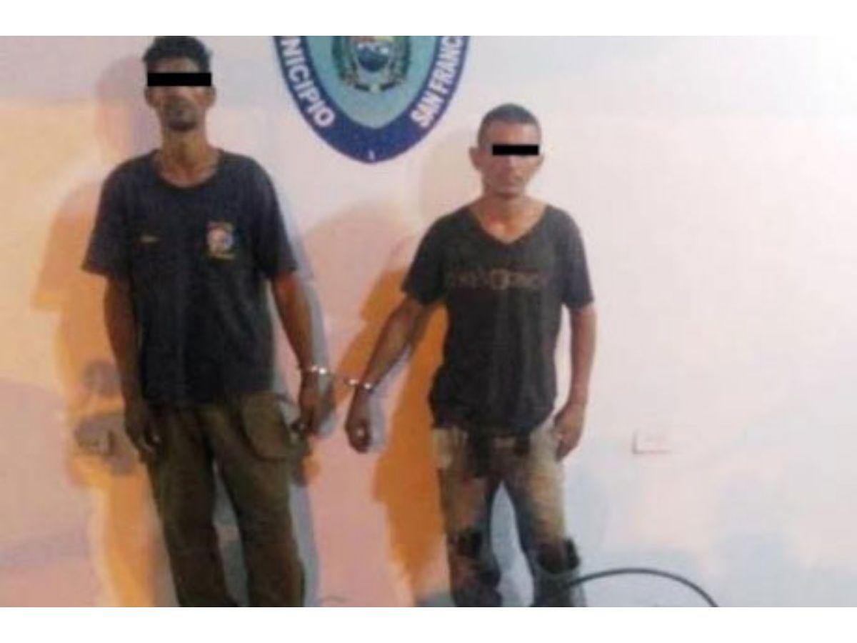 Polisur capturó a dos hombres por hurto de cableado eléctrico