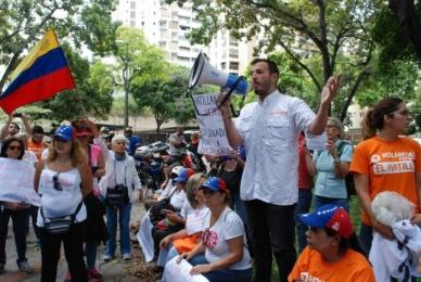 Venezolanos volvieron a la calle para respaldar a los alcaldes perseguidos