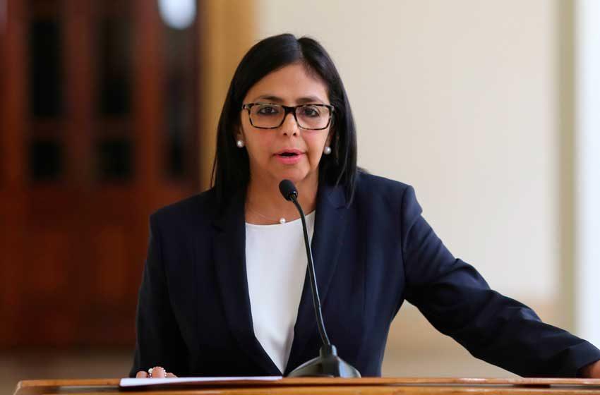 Delcy Rodríguez aseveró que en Venezuela el único camino posible es la paz