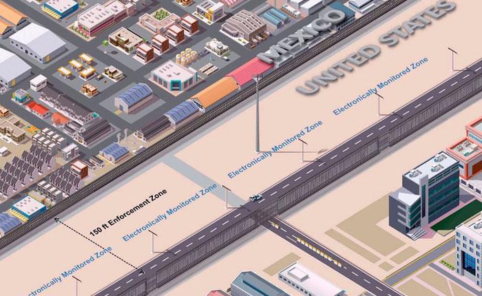 """EEUU presenta el diseño """"ideal"""" para el nuevo muro fronterizo con México"""