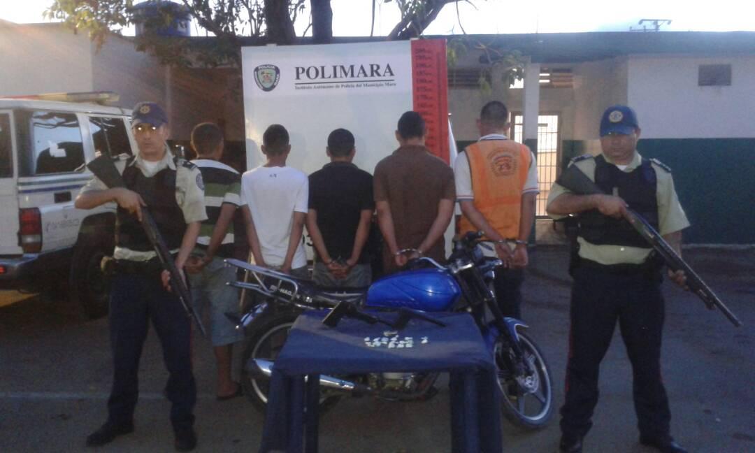 Polimara detuvo a ocho ciudadanos por microtráfico de drogas